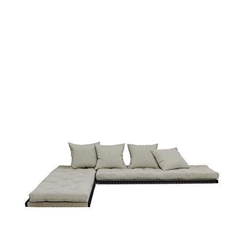 Karup Design Divano Letto Chico Divano Letto futon a 3 posti in Legno Naturale con Funzione per...