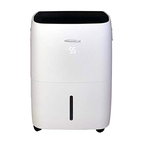 Soleus Air 70-Pint WiFi Controls Energy Star Dehumidifier, White