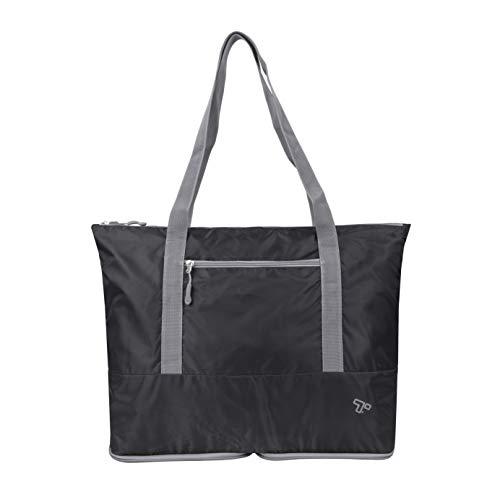 Travelon: Packable Folding Tote Bag - Black