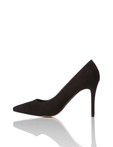 find. Zapatos de Salón Mujer, Schwarz (Black), 39