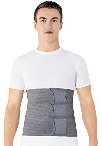 Cintura lombare di sostegno - Fascia Schiena Elastica Lombare - Cintura lombare terapeutica-Tutore Posteriore Lombare XXX-Large Grigio