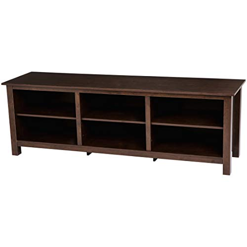 Rockpoint Argus 70-Inch Wood TV Stand Media Console, Acajou Brown