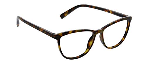 Peepers by PeeperSpecs Women's Bengal Cat Eye Reading Glasses, Tortoise-Focus Blue Light Filtering Lenses, 54 mm + 2.75