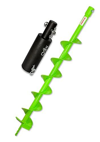 Trapano WERHE Profi in acciaio massiccio, punta da terra per trapano 100 mm estremamente robusto con adattatore Makita/Hitachi - trapano a colonna trapano da pozzo punta precisa.