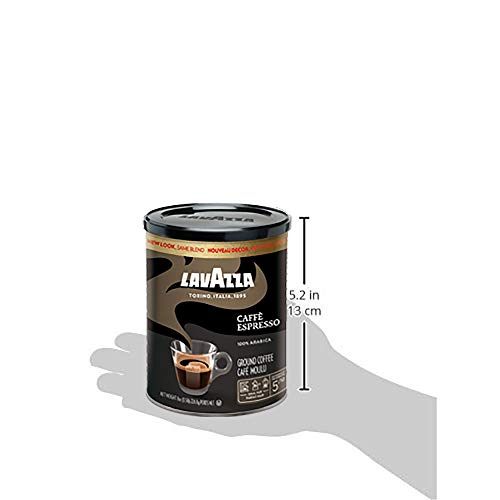 Lavazza Espresso Italiano Ground Coffee Blend, Medium Roast, 8-Ounce Cans,Pack of 4 (Packaging may vary) 20