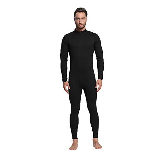 LOPILY Herren Surfbekleidung Neoprenanzug Schwimmen Surfen Tauchen Sport Badeanzug Taucheranzug Wassersport Anzug Schnelltrocknend Schnorcheln Badebekleidung(Schwarz,2XL)