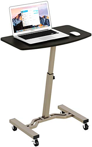3. SHW Height Adjustable Mobile Laptop Stand Desk
