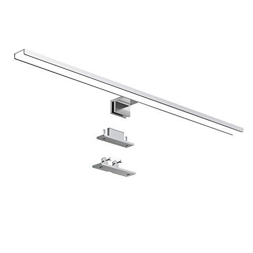 LED Spiegelleuchte,IP44 Wasserdichte Badlampe Spiegellicht Badspiegel Schminklicht Wandleuchte Aufbauleuchte + Klemmleuchte 12w neutralweiß 6000K 800lM [Energieklasse A+] (60 cm)