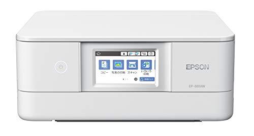 エプソン プリンター A4 インクジェット 複合機 カラリオ EP-881AW ホワイト(白) 2018年モデル