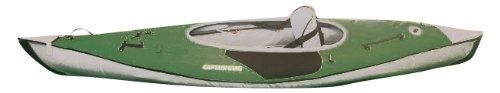 green single-seat kayak