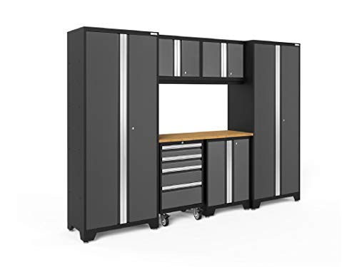 NewAge Products Bold Series Gray 7 Piece Set, Garage Cabinets, 50418