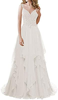 Tips: There are 5cm you can modify when dress is small for you. JAEDEN measurements for detailed sizing information on left. Available in full size range (Size 2- Size 28) and in custom sizing V Neck Wedding Dress Chiffon See Bridal Gown Through Back...