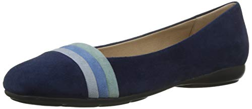 Geox D ANNYTAH A, Bailarinas Mujer, Blue/AVI O C0226, 40