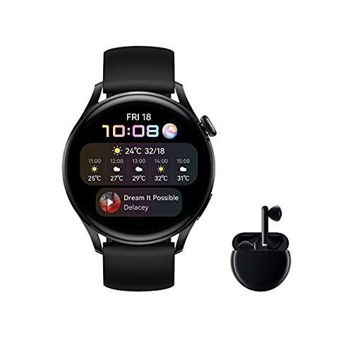 HUAWEI Watch 3 Active + Freebuds 3 Negro - Smartwatch 4G con...