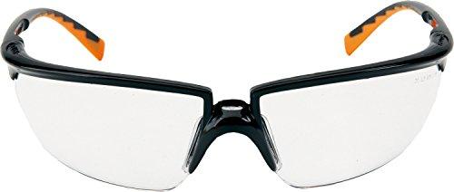 3M 71505-00001M Occhiali di Protezione con Stanghette Colorate, Antigraffo, Trasparente