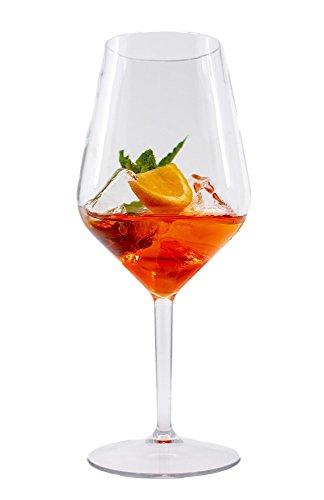 Stylgs Bicchieri da Vino in plastica Tritan | infrangibili, riutilizzabili e Lavabili in lavastoviglie | Bicchieri d'Aperitivo 6 Pezzi
