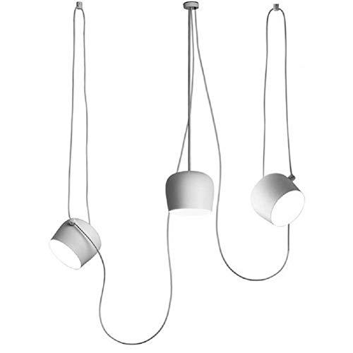 Ruixf E27 Loft Chandelier Luce da Pranzo Industriale Moderna Lampada a Sospensione Plafoniera...