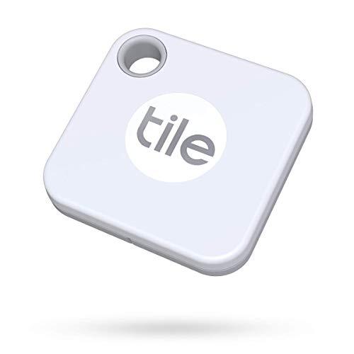 Tile Mate (2020) buscador de objetos Bluetooth, Pack de 1, blanco. Radio búsqueda 60m, batería 1 año sustituible, compatible con Alexa, Google Smart Home, iOS, Android. Busca llaves, mandos y más