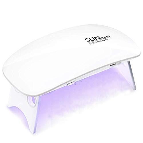 Lampada Unghie UV LED 6W Manicure Pedicure portatile Gel Essiccatore per Unghie
