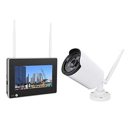 7inch Wireless Wifi NVR Telecamera impermeabile Night Vision Monitor per la sicurezza domestica 1.3MP Videocamera per videosorveglianza di sicurezza esterna ad alta definizione(EU)