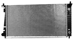 TYC 2260 Compatible with Ford F-Series 1-Row Plastic Aluminum Replacement Radiator