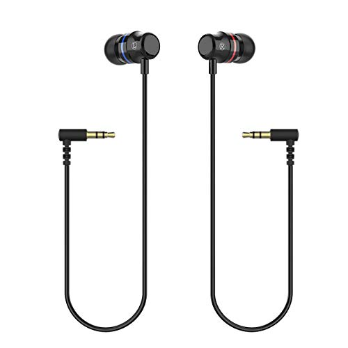 KIWI design Earbuds Earphones Custom Made for OculusQuest 1 VR Headset Noise Isolating in-Ear Headphoneswith 3D 360 Degree Sound (Black, 1 Pair)