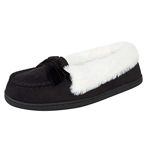 Jessica Simpson Women's Micro Suede Moccasin Indoor Outdoor...