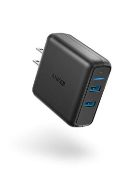 Anker Quick Charge 3.0 39W Dual USB Wall Charger, PowerPort Speed 2 for Galaxy S7/S6/Edge/Plus, Note 5/4 and PowerIQ for iPhone X/8/7/6s/Plus, iPad Pro/Air 2/mini, LG, Nexus, HTC and More