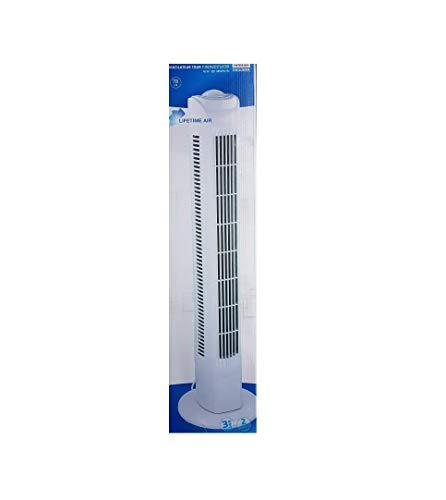 Interior TF35 Säulenventilator Turmventilator 78cm, 3 Stufen Standventilator, Oszillierender Boden Ventilator, Lautstärke max. 57dBA, 45 W, weiss