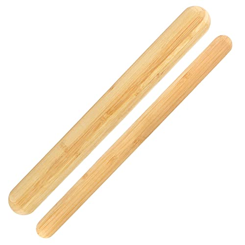 Bamboo French Style Rolling Pins - 1 Thick, 1 Thin No Handles
