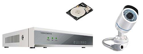 Proxe 460020 Kit Powerline + 1 Telecamera PLC 36 LED IR, Bianco