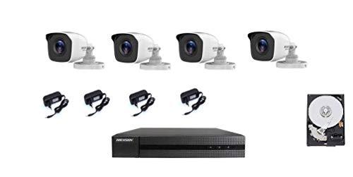 KIT DE CÁMARA DE VIDEO VIGILANCIA HIKVISION HIWATCH, 4 CÁMARAS FULL HD 1080P, 4 DVR CANLI FULL HD 1080P, 5 FUENTES DE ALIMENTACIÓN + VISIÓN NOCTURNA CON DISCO DURO DE 500GB, EXCELENTE CALIDAD.