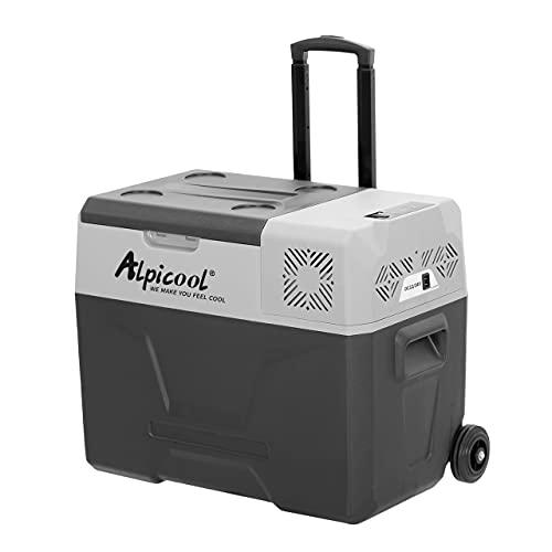 Alpicool CX40 40 Litri Frigoriferi Portatile Elettrico Frigorifero per Auto Congelatore 12V 24V DC/AC Mini Frigo per Viaggio, Picnic, Campeggio Uso Esterno