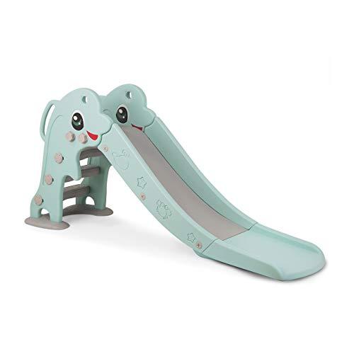 Baby Vivo Kinder Rutsche Kinderrutsche Gartenrutsche Kleinkinderrutsche Kunststoff Delfin abgerundete Ecken & Kanten für Indoor & Outdoor in Türkis