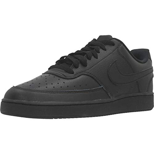 Nike Men's Court Vision Low Sneaker, Black/Black-Black, 10.5...