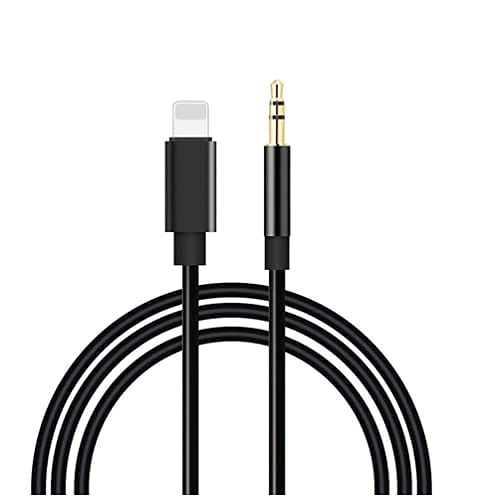 Aine 3.5mm Male Aux Cord Audio Adapter Cable to Car/Home Stereo or Headphone for All iPhone (Only for Music Call is not Supportable)(Black)