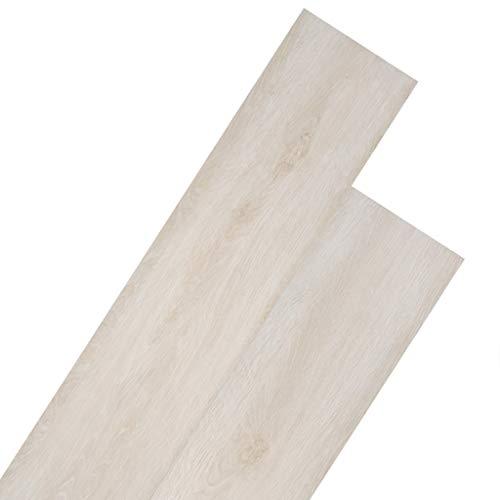 vidaXL Listoni per Pavimentazione in PVC 5,26 m 2 mm Bianco Rovere Pannelli