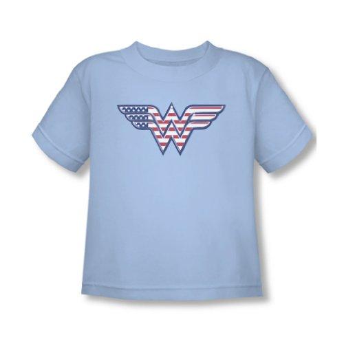 Wonder Woman Rosso Bianco & Blu Toddler t-Shirt in Azzurro Blu Light Blue