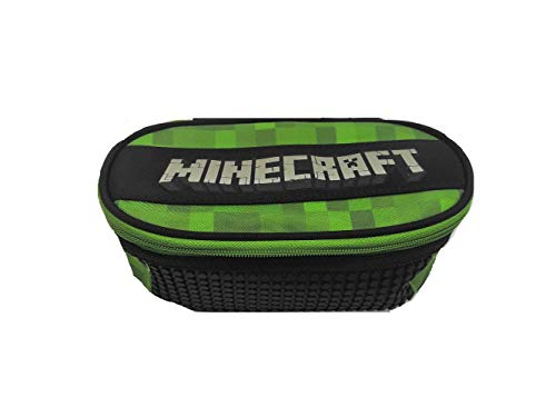 Astuccio Scuola Compatibile con Minecraft Pixel Organizzato Ovale Vuoto 22x9x7 cm