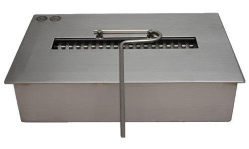 New Firebox Burner Stainless Steel for Fireplace or Table adjustable Flame 2,5 liters / 30 cm