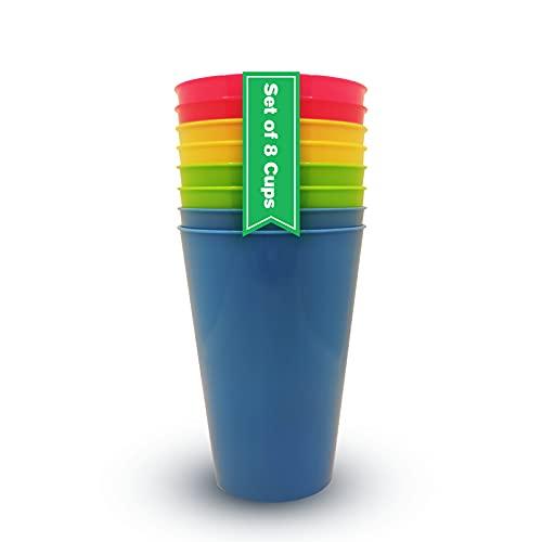 Vasos Plastico Duro Niños y Adultos (8 uds) Vasos Libres de