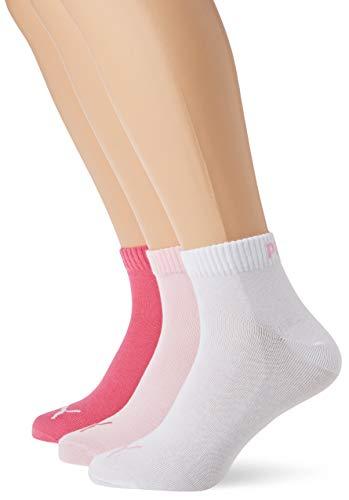 Puma Quarter Plain 3P, Calzini Unisex Adulto, Rosa (Pink Lady 422), 39/42 (Taglia Produttore: 039),...