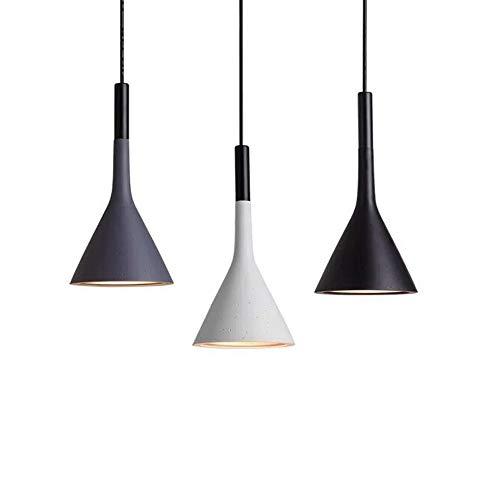Gdtime Lámpara colgante E27 Moderna lámpara de techo Lámpara de aluminio para sala de estar Dormitorio Oficina Restaurante Cafe Bar Hotel Lámpara Comedor (Negro)