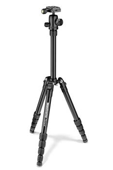 """Manfrotto Element Traveller Small Aluminum 5-Section Tripod Kit with Ball Head, Element Small 56.3"""", Black"""
