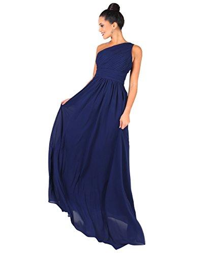 KRISP Vestido Mujer Fiesta Largo Talla Grande Hombro Descubi