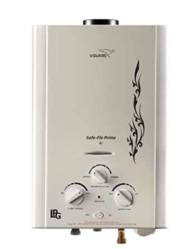 V-Guard Safeflo Prime 6Lit LPG Gas Geyser (White)