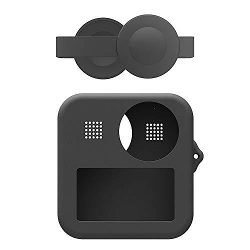 Flycoo2 - Custodia Morbida in Silicone per GoPro Max, con Tappo per Obiettivo