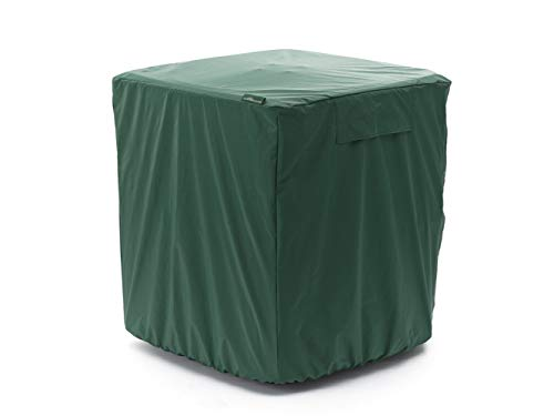 Covermates Air Conditioner Cover - Light Weight Material, Weather Resistant, Elastic Hem, AC & Equipment - Green