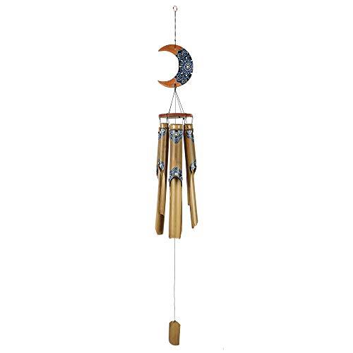 HAB & GUT -HA0P3- Carillon di Vento Bamboo, 130 cm, Dipinto a Mano, Riproduzione Sonora, Mobile per terrazza e Giardino