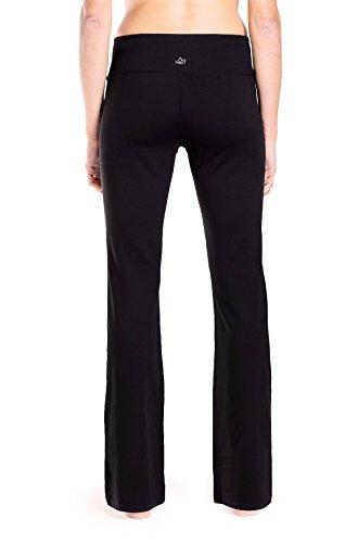 """Yogipace 27""""/28""""/29""""/30""""/31""""/32""""/33""""/35""""/37"""" Inseam,Petite/Regular/Tall, Women's Bootcut Yoga Pants Long Workout Pants, 31"""", Black Size XL 2"""